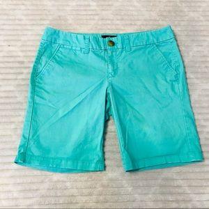 American Eagle Aqua Turquoise Chino Bermuda Shorts